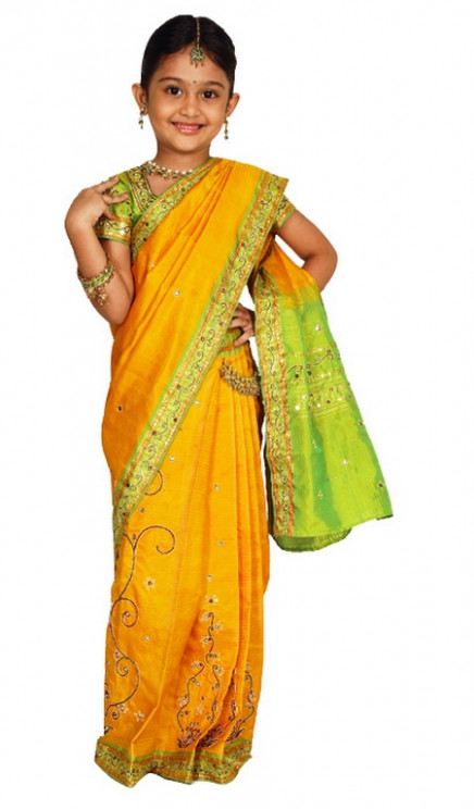 Chella's Musings: Vow!!! Kids n Sarees