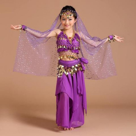 Children Belly Dance Costume Kids Indian Dance Dress Child