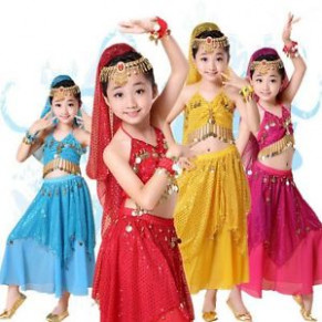 Children Kids Belly Dance Outfits Indian Dancing Fancy
