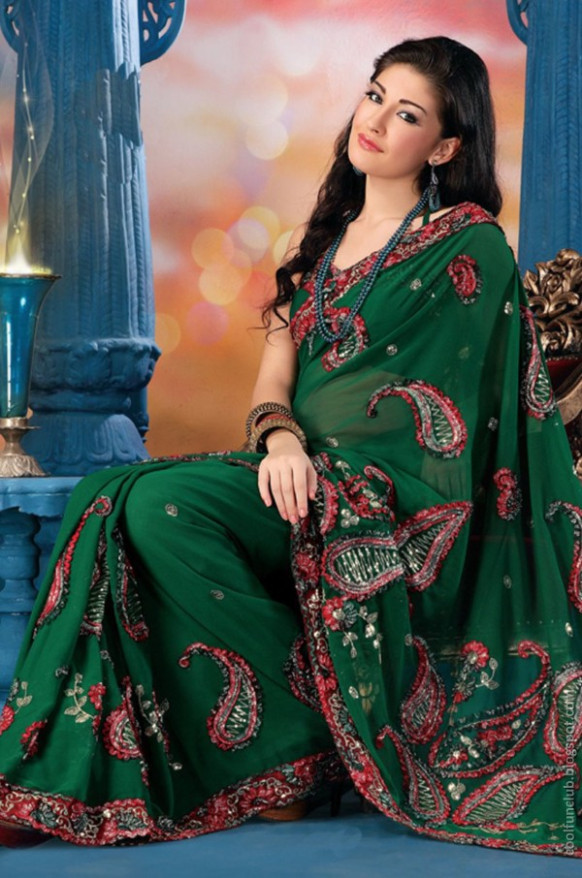 CoolFunClub: Silk Saree for Girls