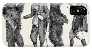 Dancing Bears In India From A Drawing By W Drawing by