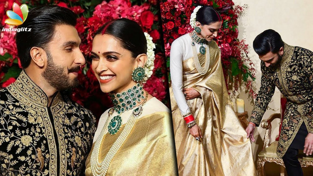 Deepika Padukone wears KANCHIPURAM SAREE for her WEDDING