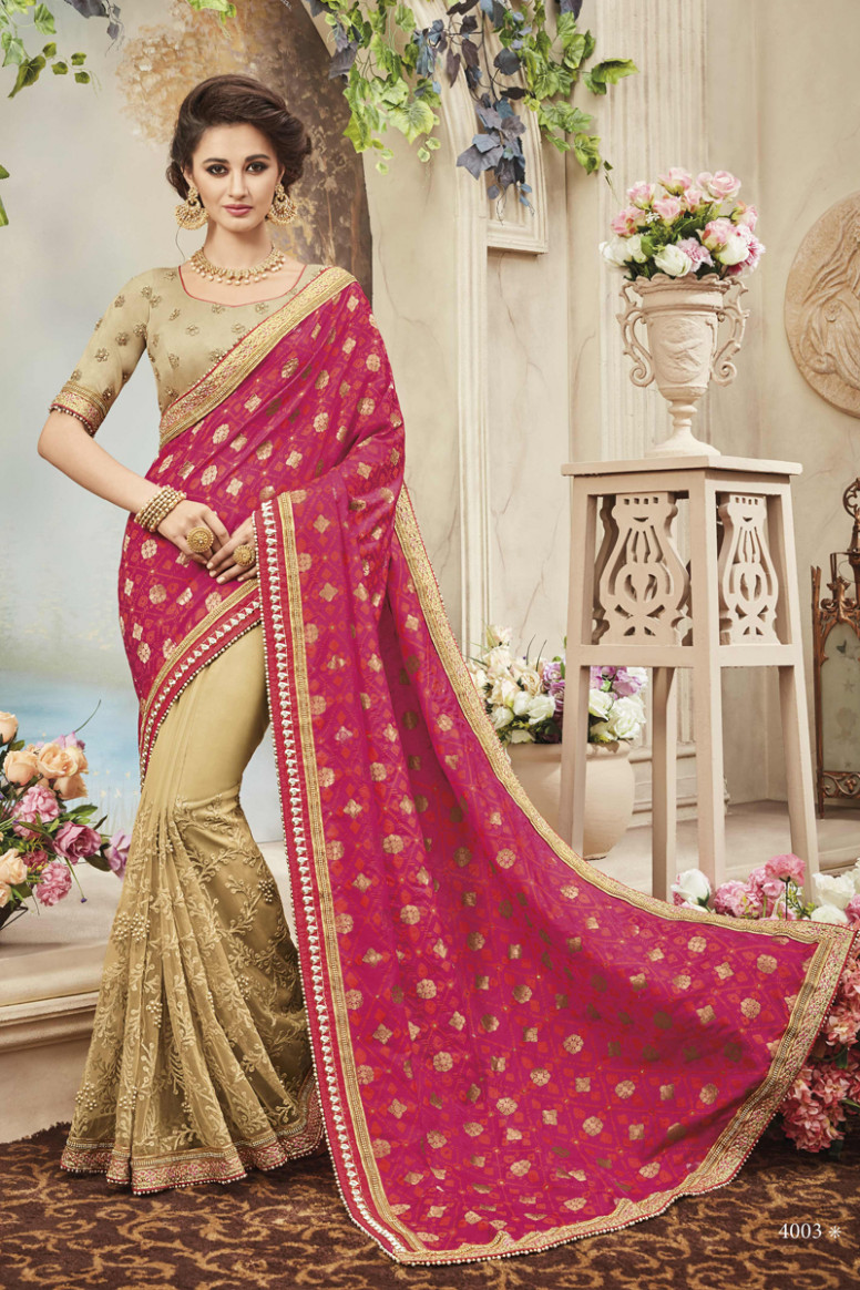 Designer Diwali Wear Saree With Heavy Work Patang Sarees