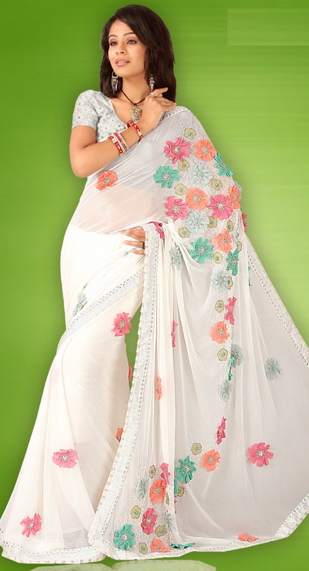 designer fancy saree collections  trendzlook