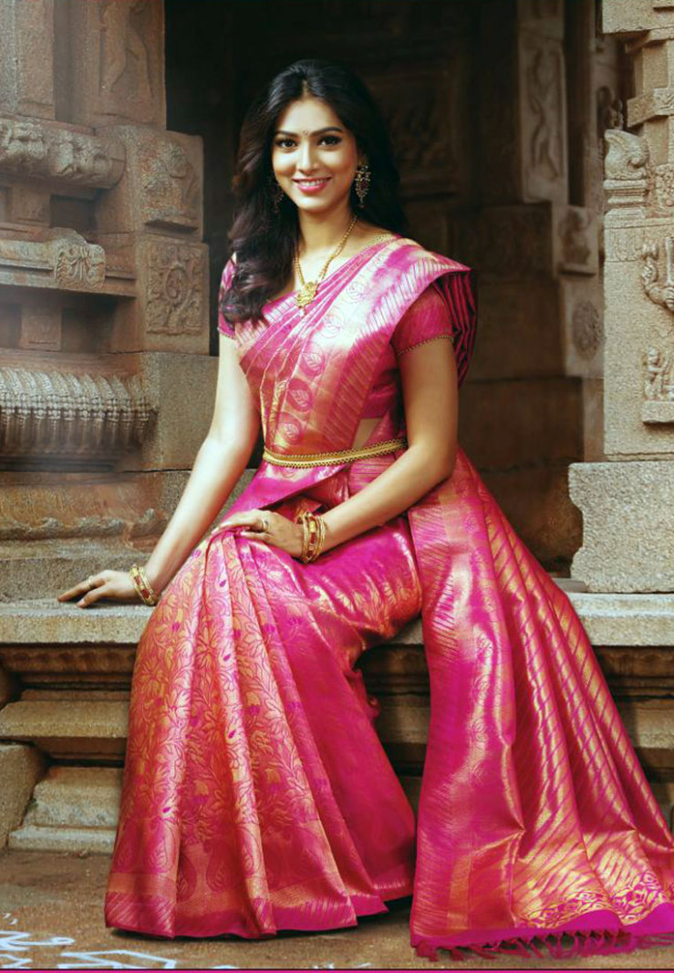 Different types of Kanchipuram / Kanjivaram silk sarees in