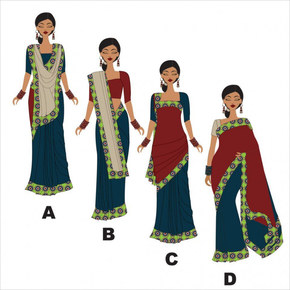 different ways to wear a Saree  east meets west
