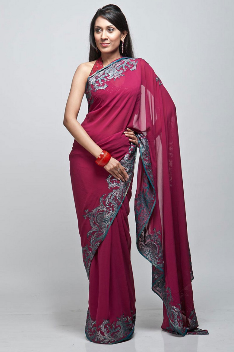 Don't Mess with the Traditional Indian Saree  designemporia