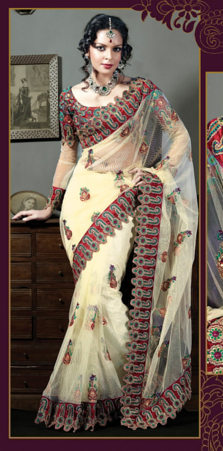 Embroidered Sarees Style 2012 - gifts-toy