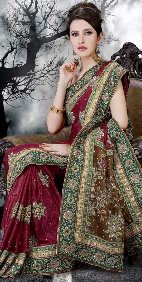 Embroidered Wedding Saree Collection  Fancy Colorful