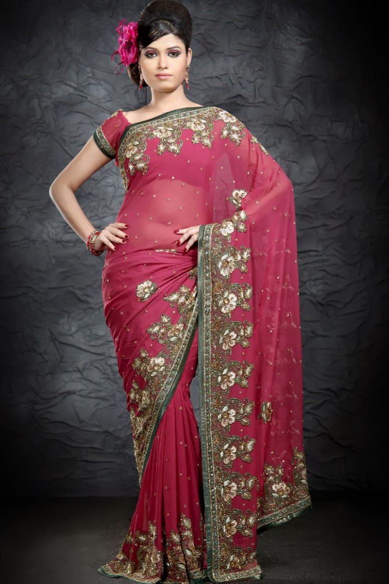 embroidery sarees online shopping  Stylish Indian Actress  - embroidery saree