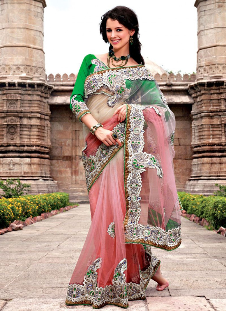 Engagement Net Saree - engagement saree