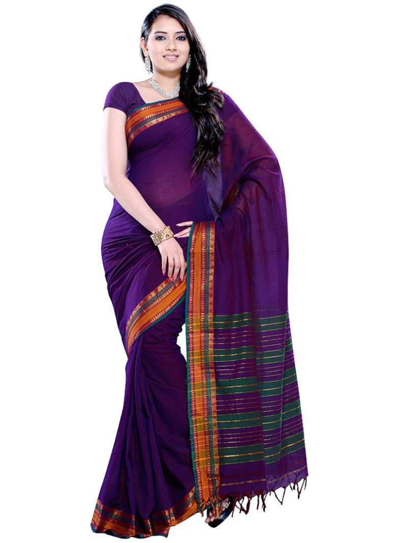 Ethnic Handloom Cotton Sarees  Hair and Beauty