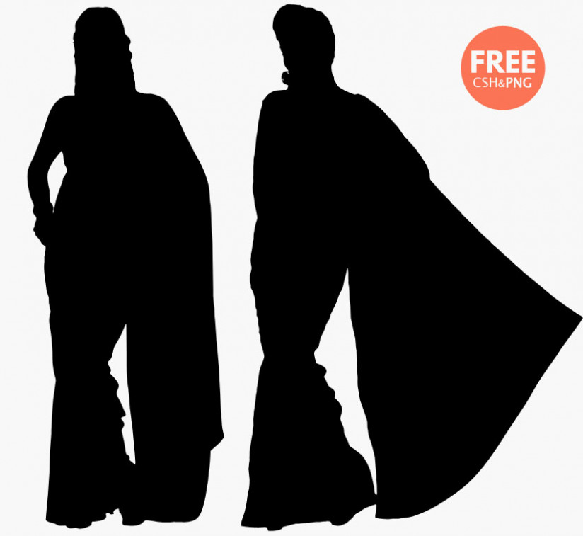 (FREE) Woman Silhouette (Vector & PNG images) - Photoshop
