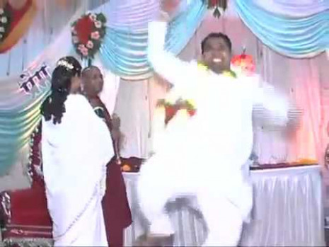 Funny Indian Guy Thrilled Dancing At His Own Wedding - YouTube