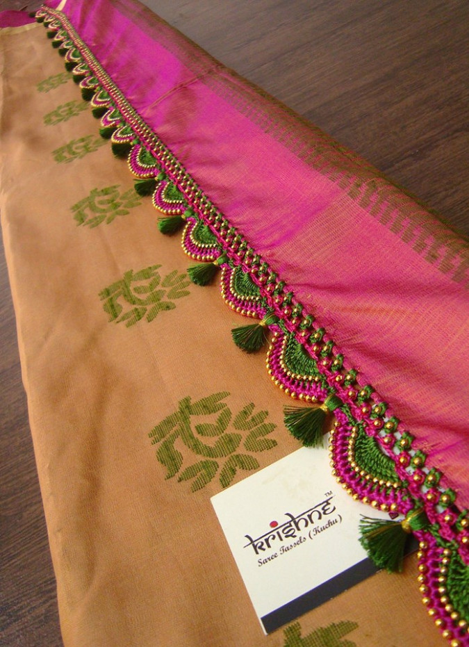 Get Your Silk Sarees Embellished With Cute Tassels • Keep