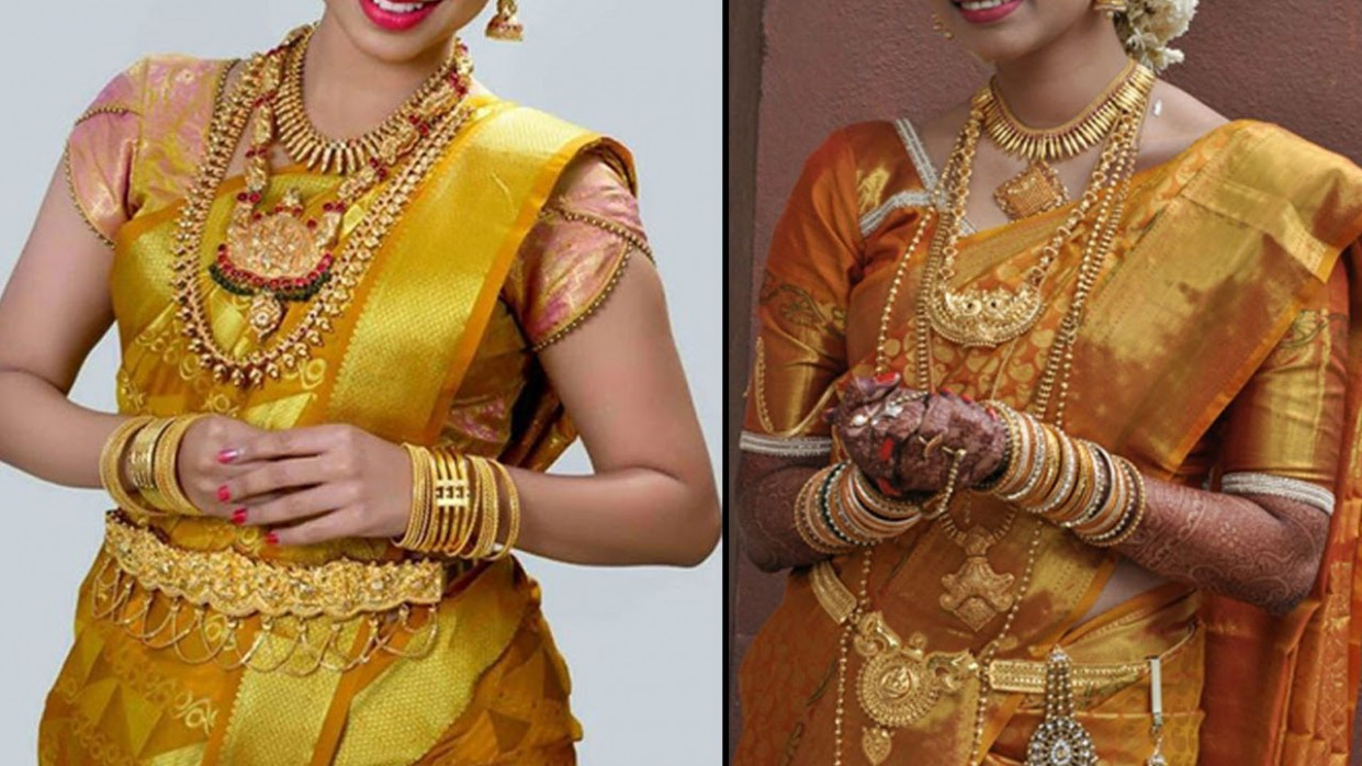 Gold Colour Pattu Saree Colletion  2019 Bridal Pattu