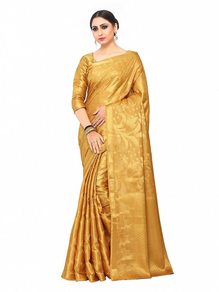 Gold Colour Silk Saree  Online Shopping Raw Silk Sarees