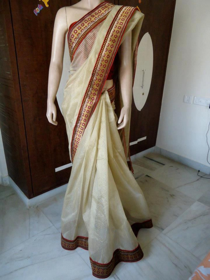 golden tissue saree-Online Shopping-