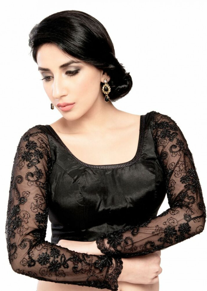 Gorgeous Long Sleeve Black Saree Top Sari Blouse  eBay