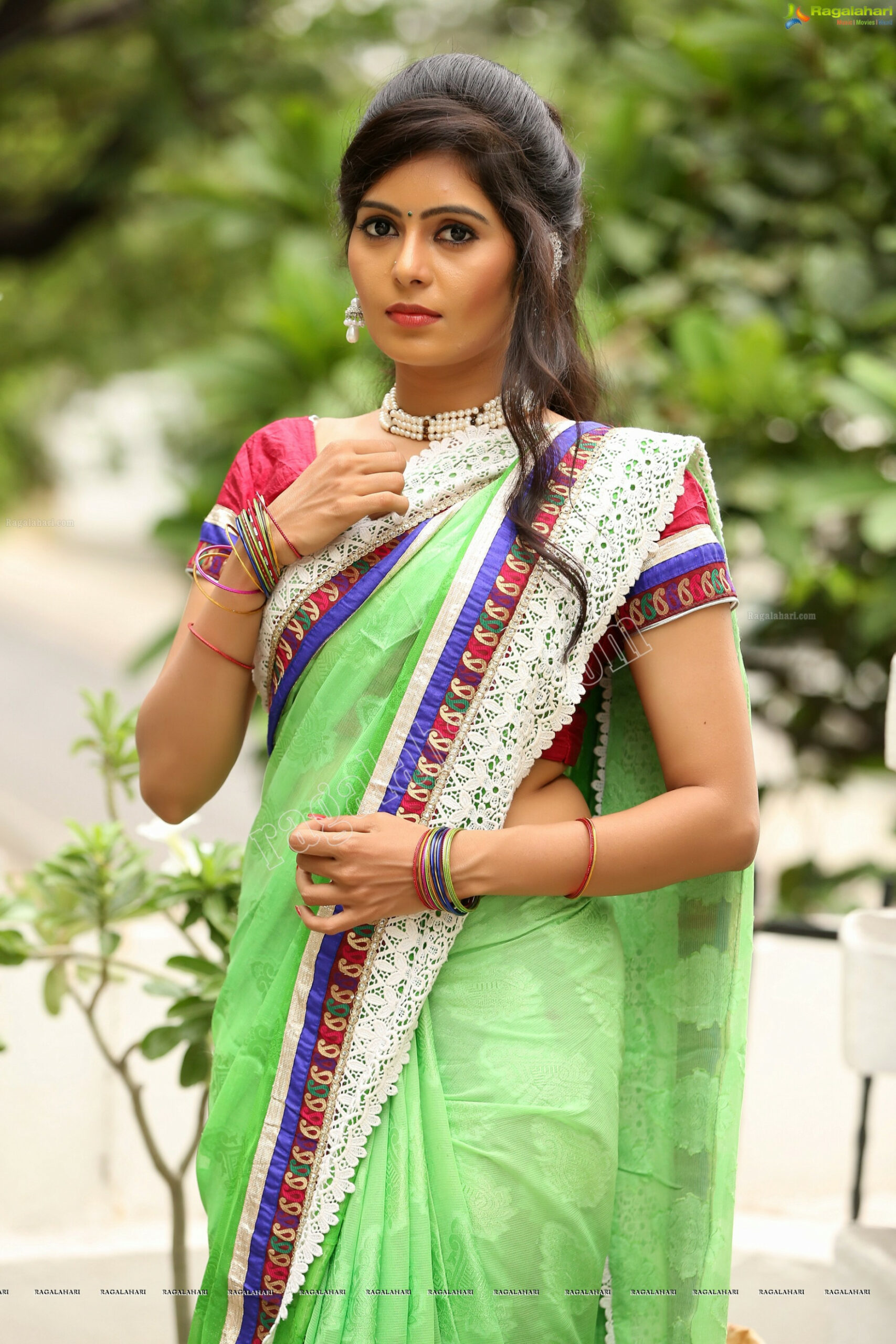 Green Saree Ragalahari Related Keywords - Green Saree