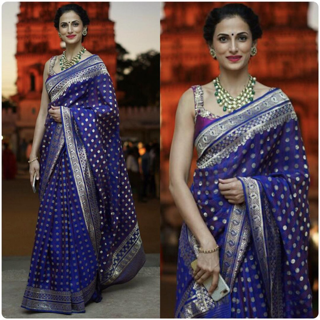 Guide to Shop Best Matching Jewellery for Your Blue Sarees