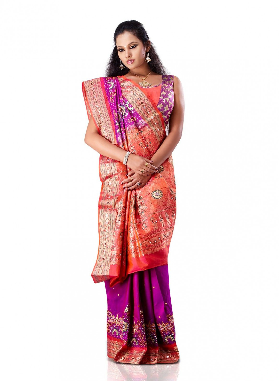 Gujarati Saree - West India  Pure silk sarees, Saree