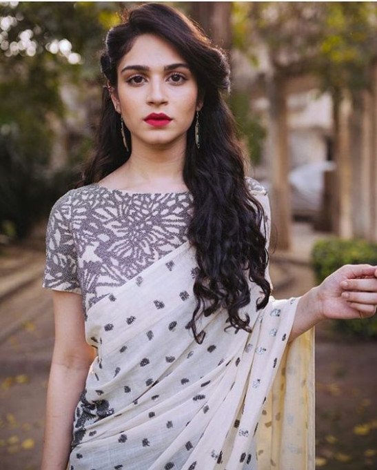 Half Up Half Down Hairstyle For Saree