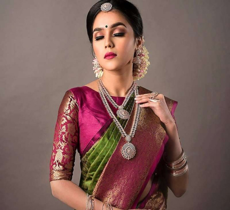High Neck Blouse Designs To Push Your Saree Game High