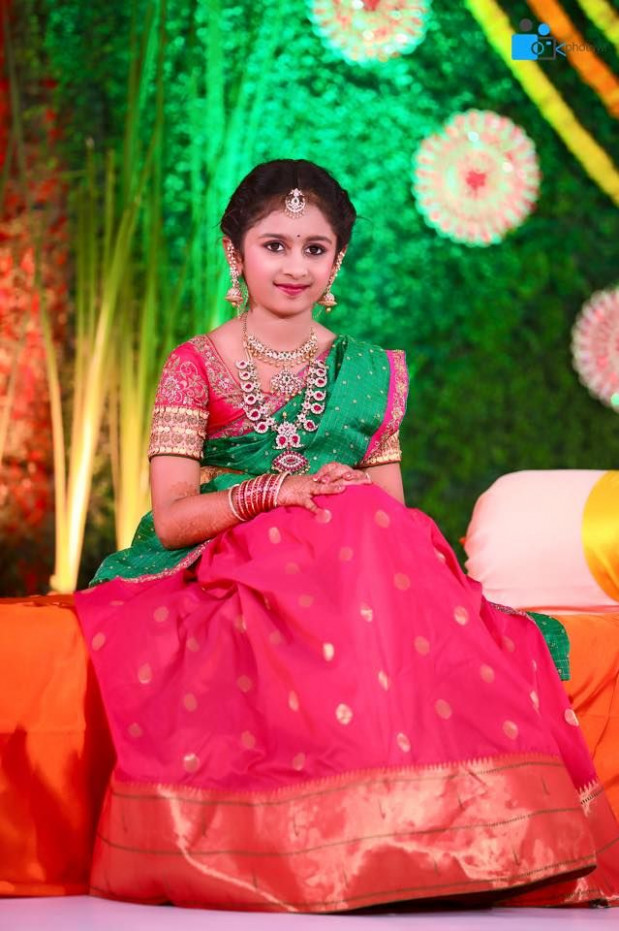 Hiya Reddy's Magnificent Half Saree Ceremony As Grand As A