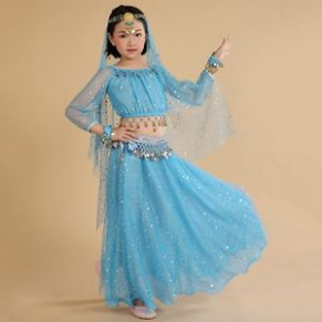 Hot Kids Belly Dance Outfits Girl Indian Dancing Clothing