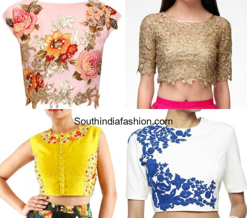 Hot Trend: CROP TOPS! – South India Fashion