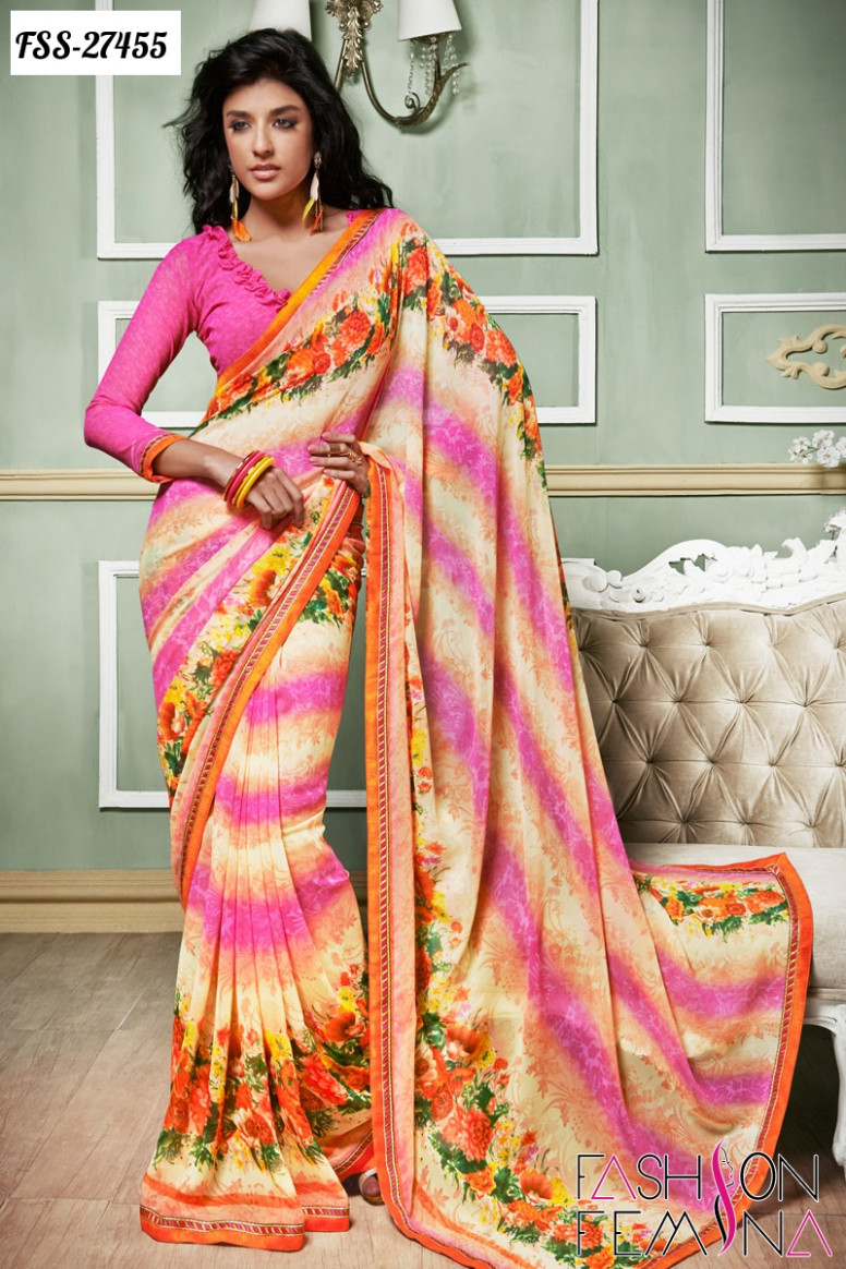 Hottest Trend of Casual Sarees Collection Online shopping