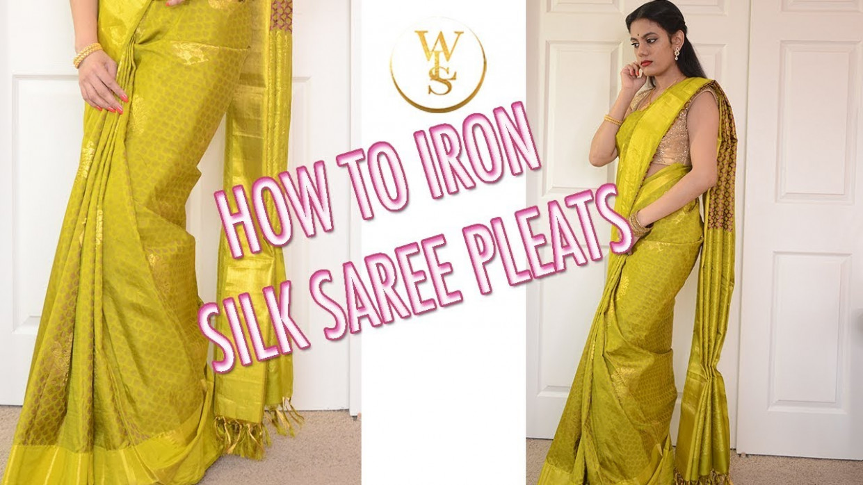 How to iron your saree pleats  With Love Sindhu - YouTube