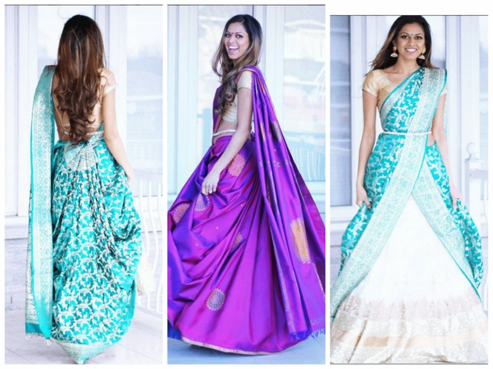 How To Reuse Your Old Saree As A Lehenga Dupatta - Frugal2Fab