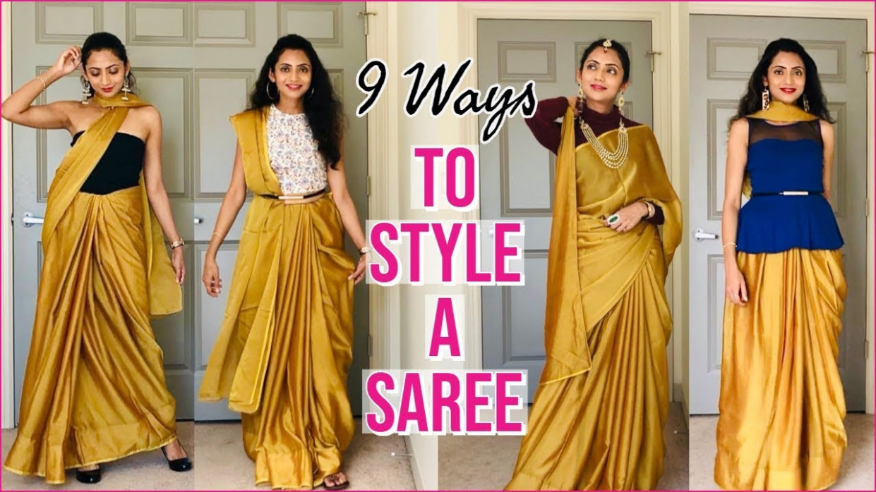 How To Style a SAREE In Different Ways  Simple Saree