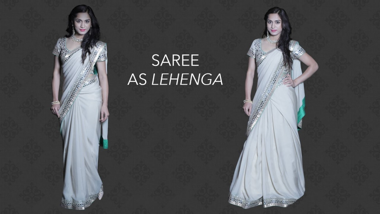 How to Wear a Saree as a Lehenga in 3 Easy Steps - Glamrs