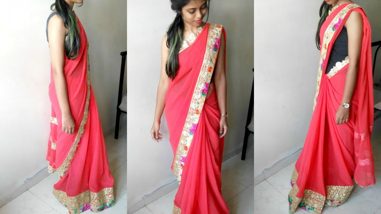 How to Wear a Saree Perfectly - Saree Draping to look Slim