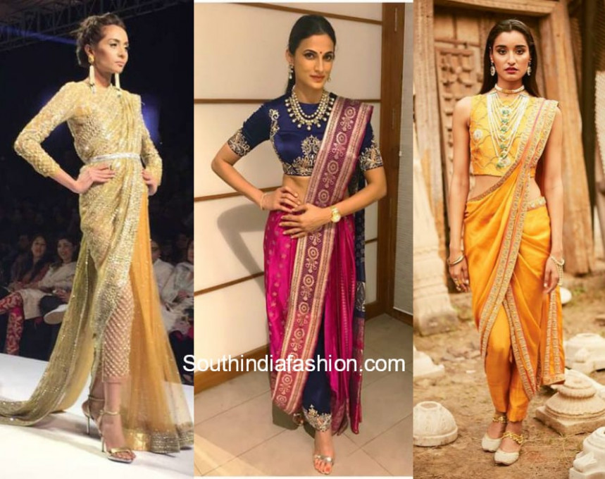 How To Wear Saree Pants / Pant Style Sarees / Sarees With