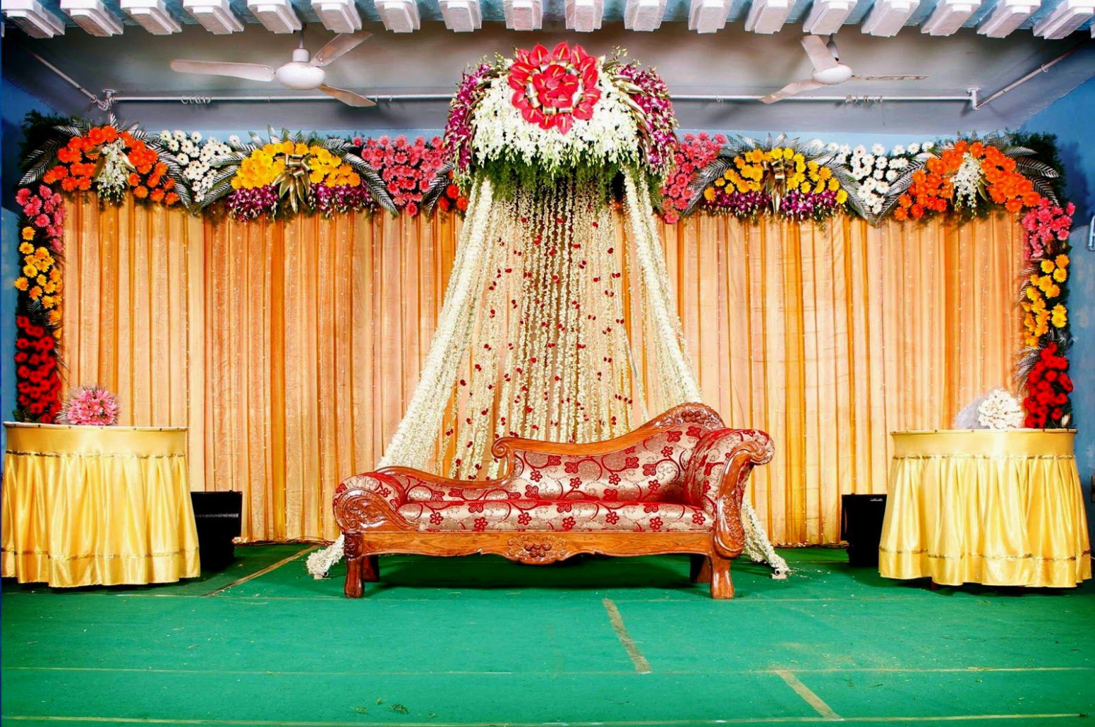 Image result for half saree function decorations  Wedding