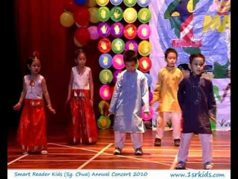 Indian cultural dance at Smart Reader Kids (Sungai Chua