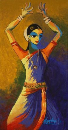 Indian Dance 01 Painting from GalleryToday.org  India