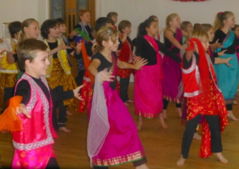Indian dancing adds a bit of colour to Great Dunham