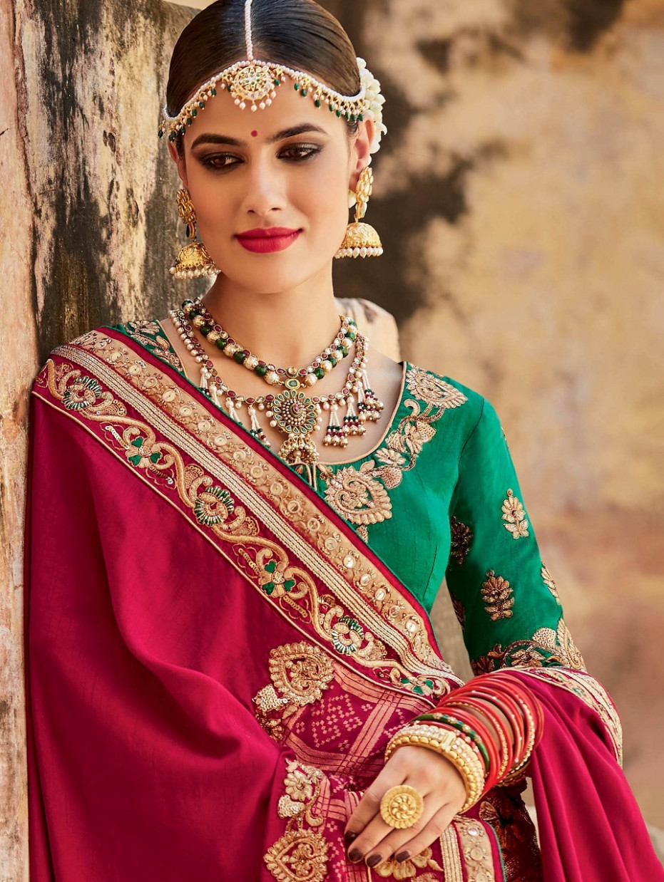 Indian Wedding Saree Latest Designs & Trends 2018-2019