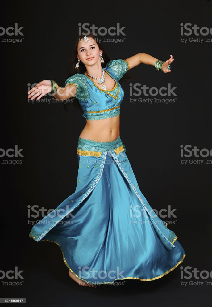 Indian Woman Dancing Stock Photo - Download Image Now - iStock