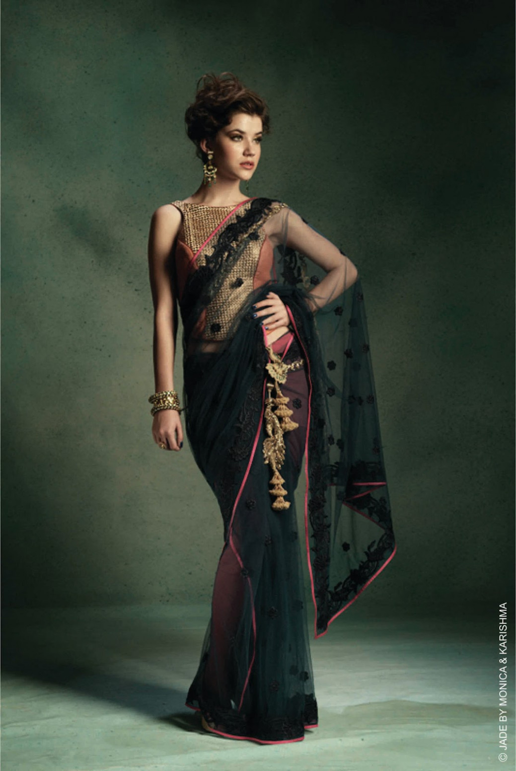 JADE COCKTAIL SAREE COLLECTION 2012/13 by Monica