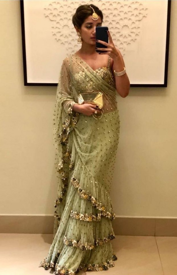 July, 2018: Ruffle Saree Style is the Hottest Indian