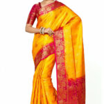Kanchipuram Saree in Yellow : SNGA42