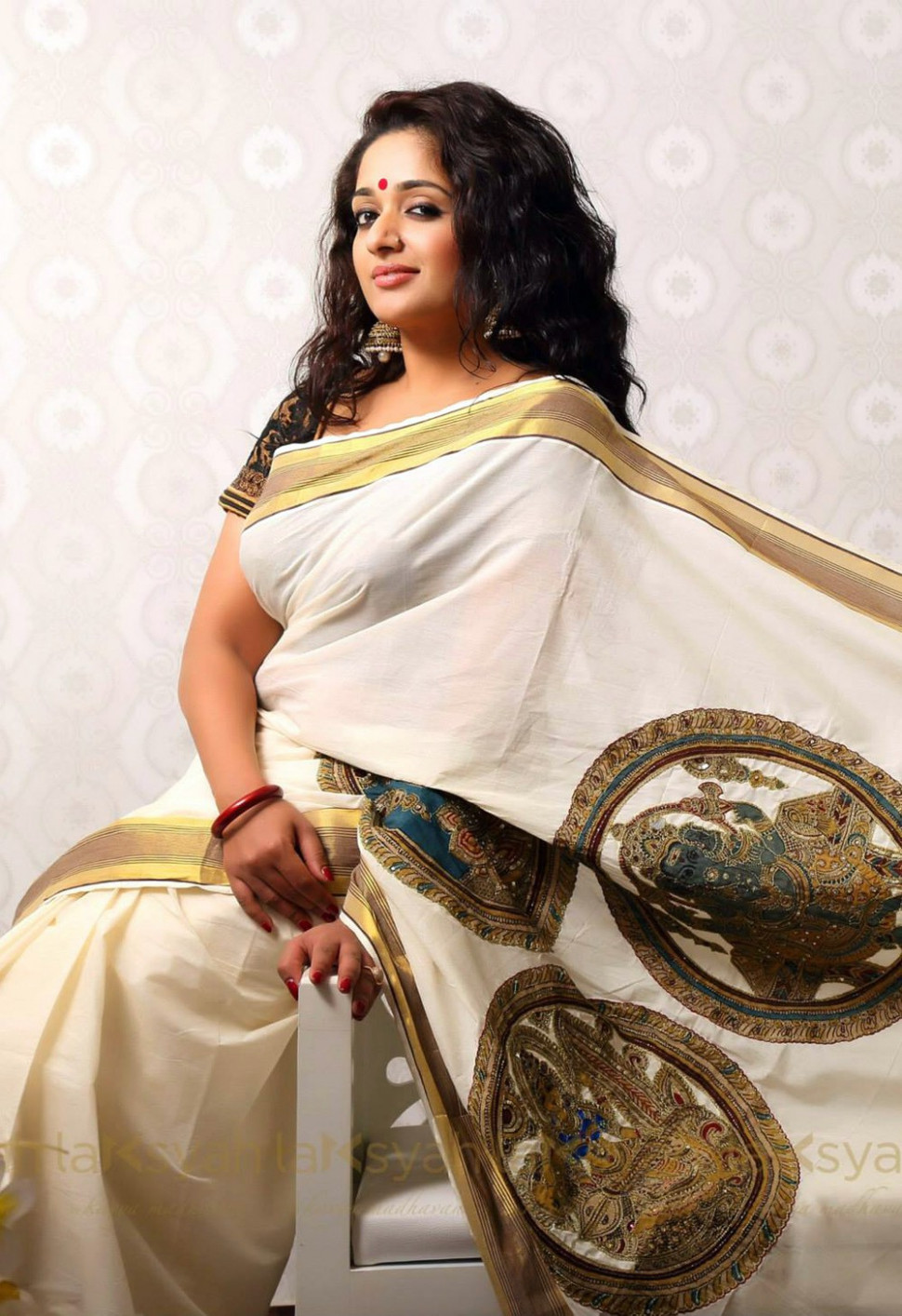 Kavya Madhavan in Kerala Set Saree Stills  Cine South