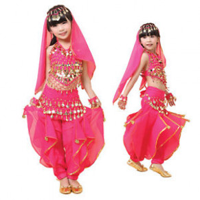 KID's Beautiful Belly Dance Indian Dance Dress Costumes