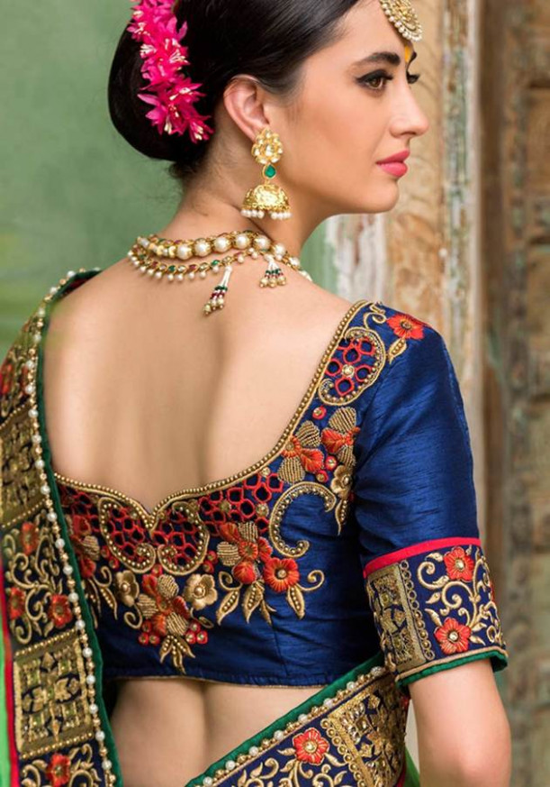 Kuch Behtareen Saree Blouse Design Ideas For Back